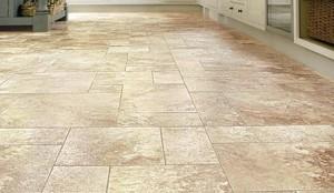 vinyl or stone floor tiles