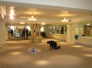 Trade flooring service out of hours for shopfitters